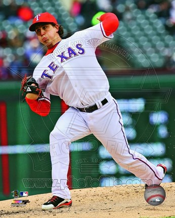 Framed Derek Holland 2013 Action Print