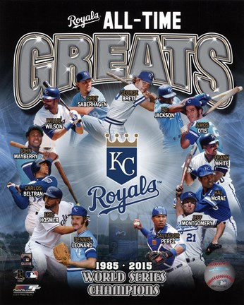 Framed Kansas City Royals All Time Greats Composite Print