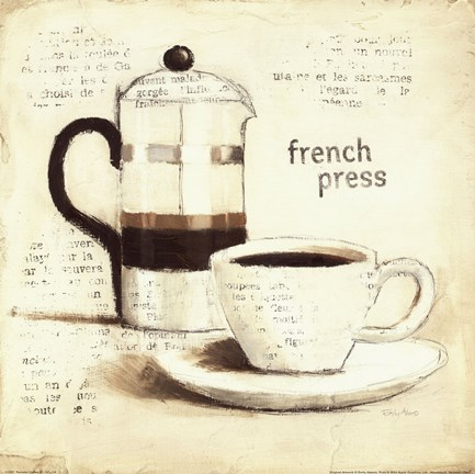 Framed Parisian Coffee III Print