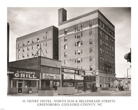 Framed O. Henry Hotel, Greensboro, Guilford County, NC Print