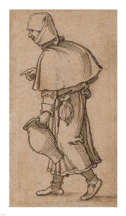 Framed Peasant Woman Carrying a Jug Print