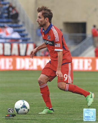 Framed Mike Magee 2013 Action Print