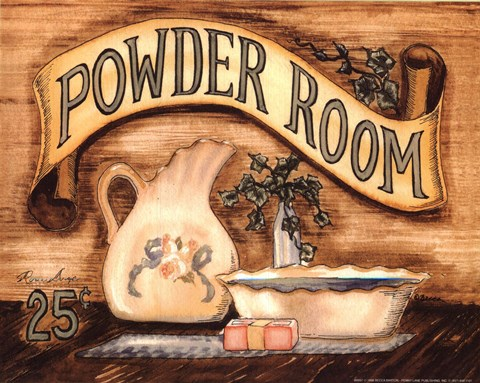 Powder Room Fine Art Print By Becca Barton At