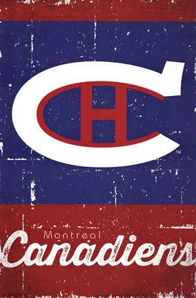 Framed Montreal Canadiens - Retro Logo 13 Print