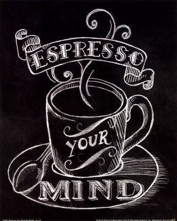 Framed Espresso Your Mind No Border Print