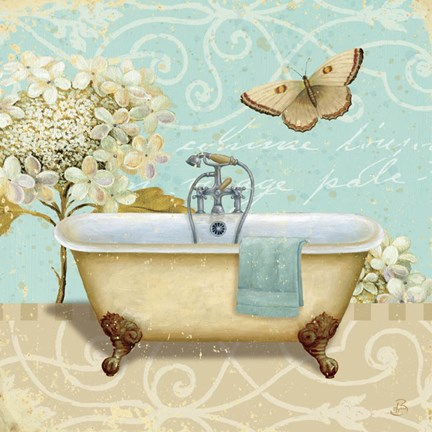 Framed Light Breeze Bath I Print