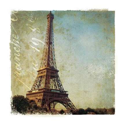 Framed Golden Age of Paris I Print