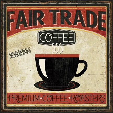 Framed Coffee Roasters I Print