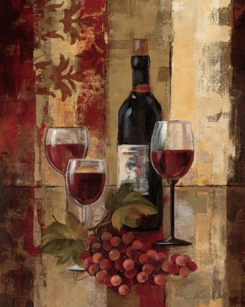 Graffiti And Wine Ii Fine Art Print By Silvia Vassileva At