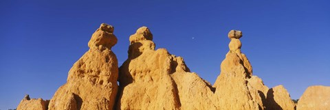 Framed Low angle view of rock formations, Queens Garden, Bryce Canyon National Park, Utah, USA Print