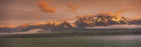 Framed Snowy Mountains, Grand Teton National Park, Wyoming Print