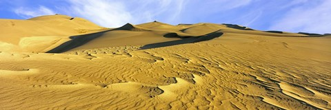 Framed Sand dunes in a desert, Great Sand Dunes National Park, Colorado, USA Print