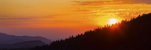 Framed Orange Sunset at Clingmans Dome, Tennessee Print