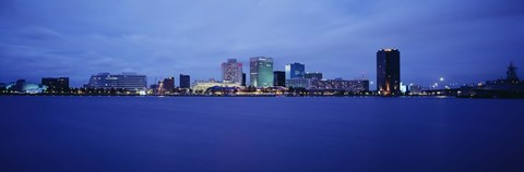 Framed Buildings on the waterfront, Norfolk, Virginia, USA Print
