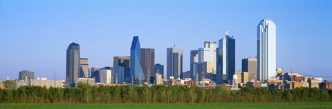 Framed Dallas Texas Skyline Print