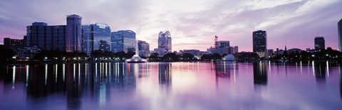 Framed Lake Eola In Orlando, Orlando, Florida, USA Print