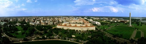 Framed Aerial View Of The City, Washington DC, District Of Columbia, USA Print