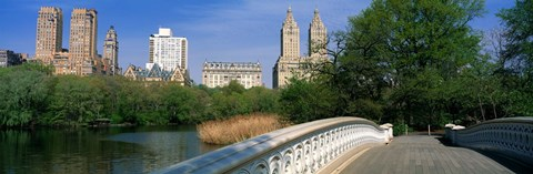 Bow Bridge, Central Park, NYC, New York City, New York State, USA by Panoramic Images
