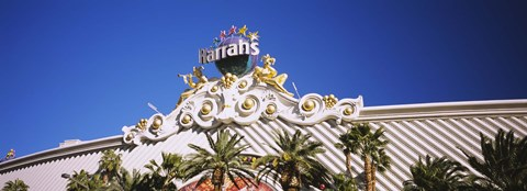 Framed Low angle view of a building, Harrah's Hotel, Las Vegas, Nevada, USA Print