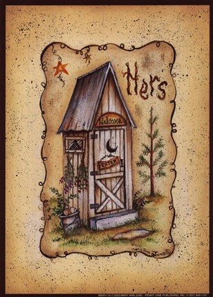 Her Outhouse Fine Art Print By Mary Ann June At