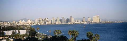 Framed City at the waterfront, San Diego, San Diego Bay, California Print