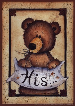Bear Bottoms His Fine Art Print By Mary Ann June At