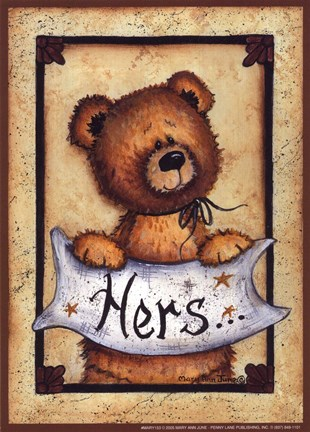 Bear Bottoms Hers Fine Art Print By Mary Ann June At