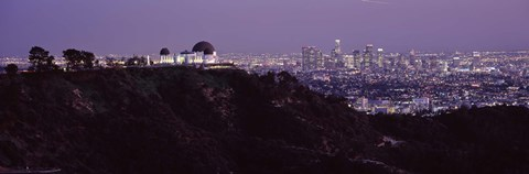Framed Griffith Park Observatory and City, Los Angeles, California Print