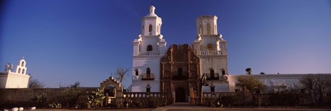 Framed Low angle view of a church, Mission San Xavier Del Bac, Tucson, Arizona Print
