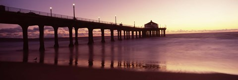 Framed Manhattan Beach Pier, California Print