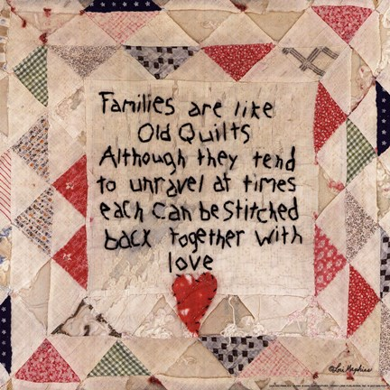 Framed Families are Like Quilts Print