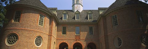 Framed Low angle view of a government building, Capitol Building, Colonial Williamsburg, Virginia, USA Print