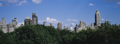 Framed Manhattan Buildings Rising above the Trees Print