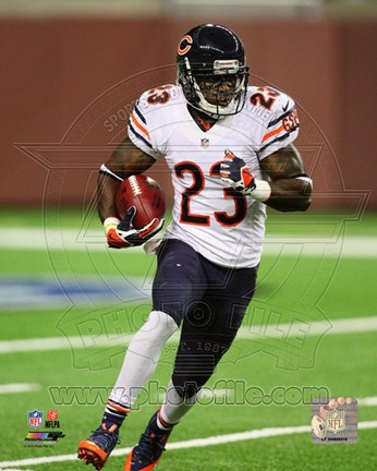 Framed Devin Hester 2013 Action Print