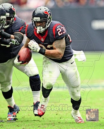 Framed Arian Foster 2013 Action Print