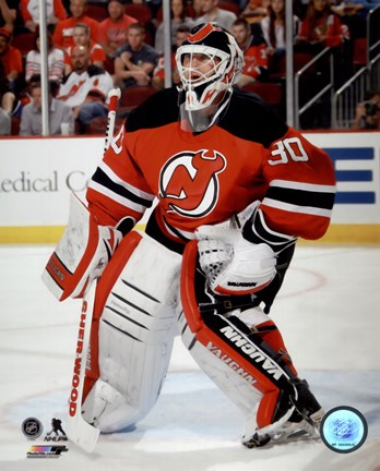 Martin Brodeur On Hockey Ice Fine Art Print By Unknown At