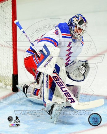 Framed Henrik Lundqvist 2013-14 in Action Print