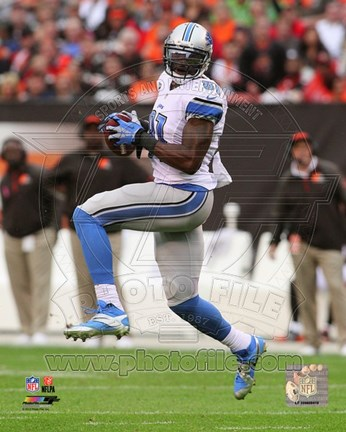Framed Calvin Johnson 2013 Print