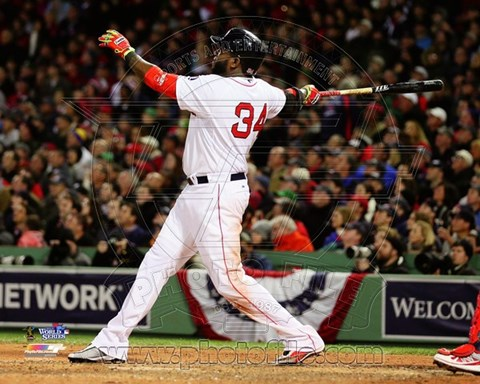 Framed David Ortiz Home Run Game 1 of the 2013 World Series Print