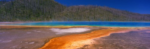 Framed Grand Prismatic Spring, Yellowstone National Park, Wyoming, USA Print