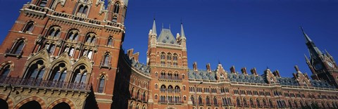 Framed Low angle view of a building, St. Pancras Railway Station, London, England Print