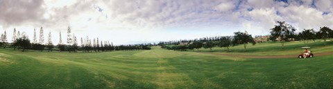 Framed Golf Course Maui HI USA Print