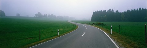 Framed Country Road With Fog, Near Vies, Germany Print