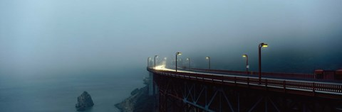 Framed Highway In Fog, San Francisco, California, USA Print