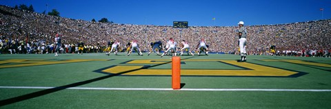 Framed Football Game, University Of Michigan, Ann Arbor, Michigan, USA Print