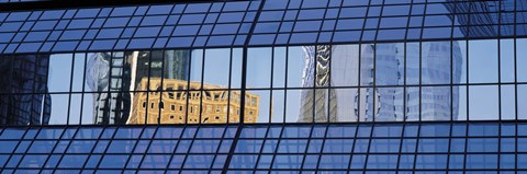 Framed Building reflections, Frankfurt, Germany Print
