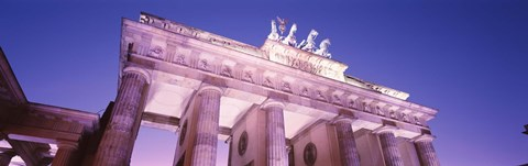 Framed Dusk, Brandenburg Gate, Berlin, Germany Print