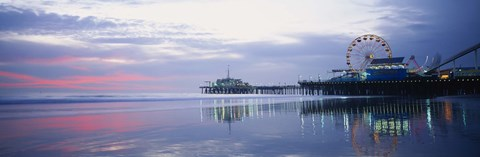Framed Pier with a ferris wheel, Santa Monica Pier, Santa Monica, California, USA Print
