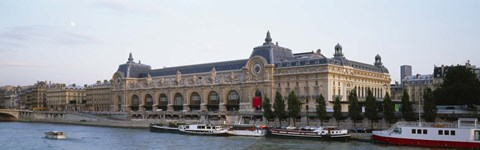 Framed Museum on a riverbank, Musee D'Orsay, Paris, France Print