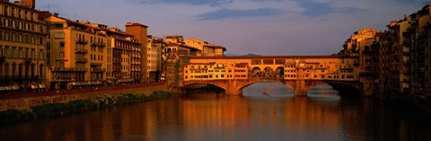 Framed Ponte Vecchio Arno River Florence Italy Print